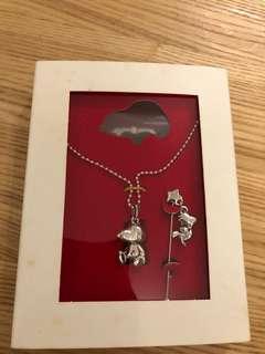 Snoopy necklace set