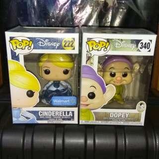 (ON HAND) Dopey and Cinderella Disney Funko Pop Bundle