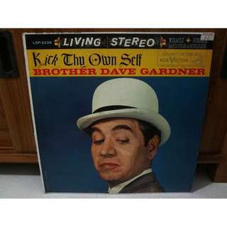 Brother Dave Gardner Vinyl LP Record Kick Thy Own Self LP Living Stereo