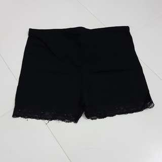 Maternity Black Lace Shorts
