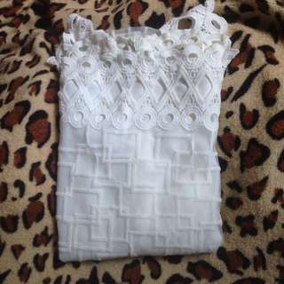 LACE White Formal Top