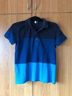 XS Penshoppe Triple Blue Polo Shirt