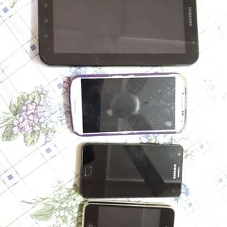 Samsung tab, S2, S4 & IPhone 3G