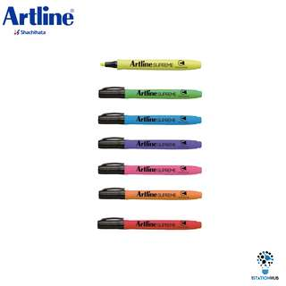 Artline Supreme Fluorescent Marker Highlighter Pen Set [WS-EPF-600(7PCS/SET)]