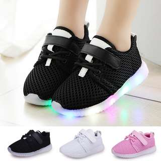 2pair LED Baby Boys Girls Shoes kids Light Up Luminous Child Trainers New Sneakers