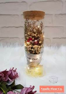 LED Flower Bottle - Cold Beauty Rose
