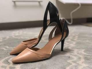 Calvin Klein Beige and Black Heels