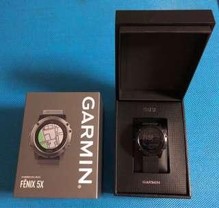GARMIN Fenix 5X 藍寶石玻璃錶面 中文版