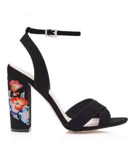 Forever New - Mara Embroidered Heels Black