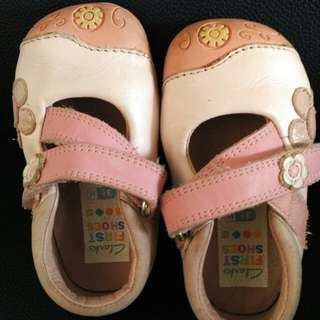 Baby Girl Shoes (clarks 3.5 size)