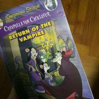 FREE Geronimo Stilton Book/Creepella Von Cacklefur book 4: return of the vampire