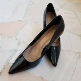 DMK Black Patent Pumps