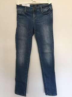 Sportsgirl skinny ankle zip jeans size 8