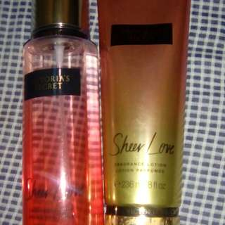 Both for only 550Pesos!  Sheer Love Lotion and Mist