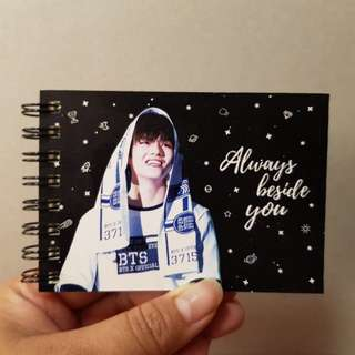 BTS Taehyung mini notebook