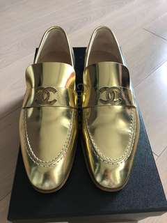 Chanel Loafers 38 平底鞋 金