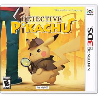 [new not used] 3DS Detective Pikachu Nintendo Action Adventure Games