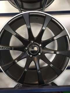 "Raxer 18""x8.5jj pcd 113 audi/merc/vw/japanese car"