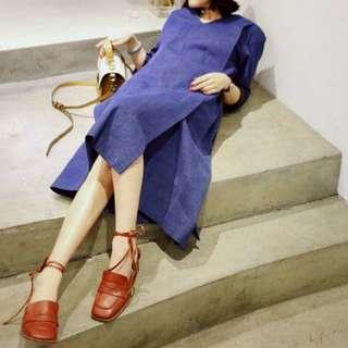 Dresscode雙折線丹寧洋裝
