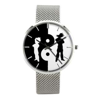 GOKU VEGETA V8 QUARTZ BUSSINESS WATCH WITH CASUAL STAINLESS STEEL BAND