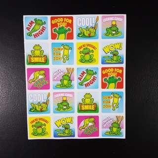 [INSTOCK] BN Frogs Reward/Merit Stickers (Carson Dellosa)