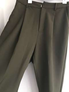 Forest green work pants