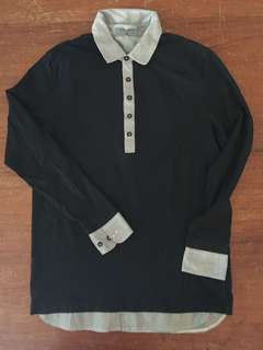 GIORDANO POLO AND SWEATSHIRT IN BLACK
