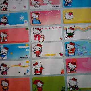 Hello Kitty Design 1 Name Stickers