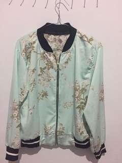 Jacket blue motif