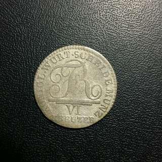 1807 德國手打銀幣