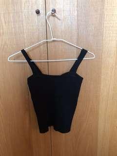 黑色針織背心