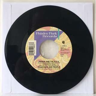"Prince And The N.P.G. ‎– Diamonds And Pearls 7"" (1991 USA Original - Vinyl is Excellent)"