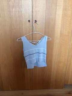 灰色短板針織背心