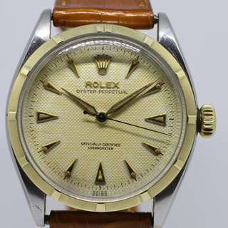 1954 Vintage Rolex Oyster Perpetual 6285 Honeycomb Cream Dial