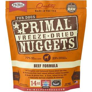 [BUY 2 GET 1 FREE] Primal® Freeze-Dried Nuggets Beef Formula Dog Food  (free 5.5oz)
