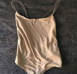 Bardot Nude Bodysuit - Size 10