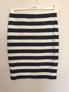 Zara trafaluc stripe skirt size s small
