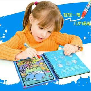 Instock Kids educational Water Writing Painting Drawing doodle Scene Colorful Graffiti Book