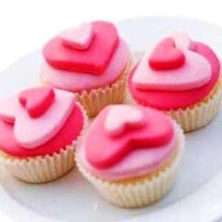 Homemade Delicious Heart Shape Cupcake !!
