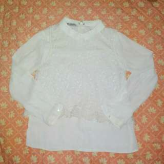 White Laced Long Sleeves