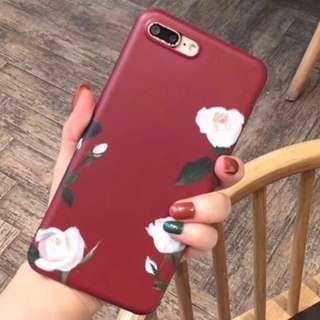 6s red flower case