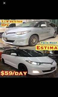 ✨Estima($69) ✨Vezel Hybrid($69) ✨ Lexus IS250($59) ✨ Accord($49) ✨Stream($55) ✨Lexus Super Luxury GS300($75) ✨BMW 120i Convertible($69) ✨BMW 525i($69) ✨Mercedes C180K($69) Car Rental Leasing