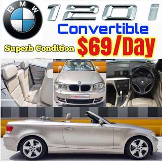 BMW 120i Cabriolet Convertible Sport ✨Estima Stream Accord Lexus IS250 GS300