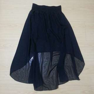 Black long back skirt with free korean beauty care