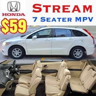 Honda Stream MPV ($59) New Honda Vezel Hybrid Sensing 2017 ($69) ✨Estima MPV($69) ✨Honda Accord($59) ✨Lexus IS250($65) ✨BMW 120i Convertible Cabriolet ($69) ✨Car Rental Leasing Uber Grab Wedding ( Rent Volvo Toyota Mercedes Airport Taxi Cab Transfer)