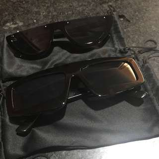 Half Vintage Sunglasses & Over Size Sungless