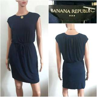(XS-S) Banana Republic navy blue cotton dress
