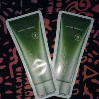 Ready!! Nature Republic Gingseng Royal Silk, foam cleanser