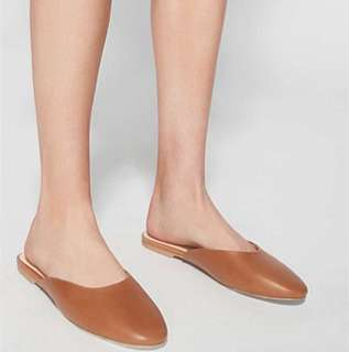 Witchery Tan Leather Mules NEW 38 RRP$129