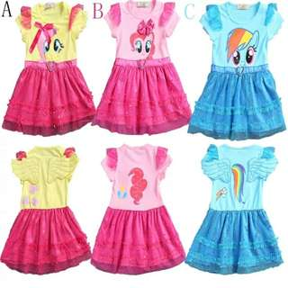 Pony Dress (Yellow/Pink/Blue)